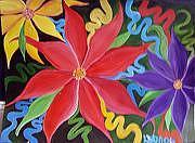 Flowers Painting - Lindamunschauer 3 by Linda Munschauer