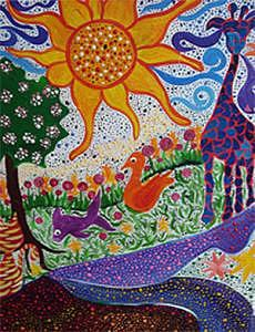 Children Painting - Lindamunschauer 7 by Linda Munschauer