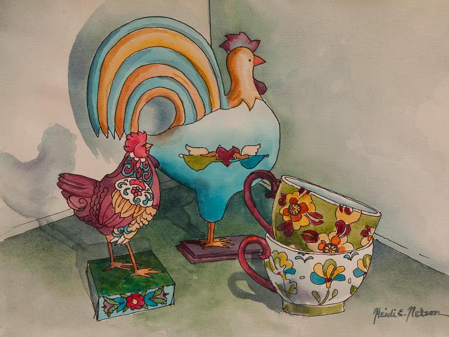 Linda's Chickens II by Heidi E Nelson