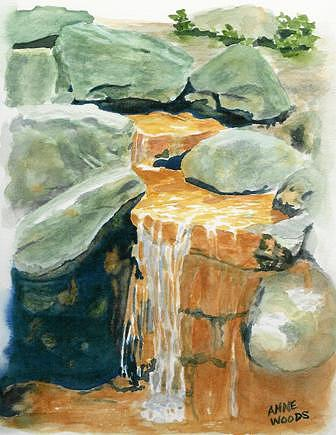 Lindas Rusty Falls Painting by Anne Woods