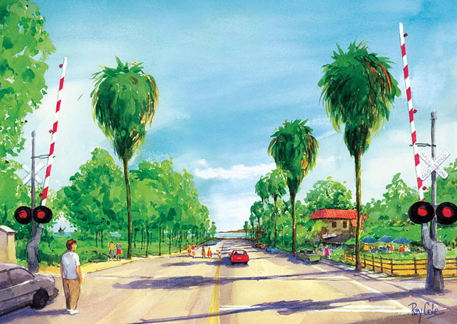 Linden Avenue Painting - Linden To The Beach  by Ray Cole