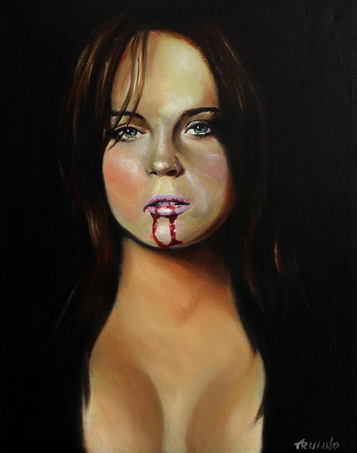 Lindsay Painting - Lindsay Lohan by Matt Truiano