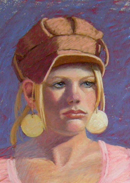 Portrait Painting - Lindsey - Detail by Pat Aube Gray