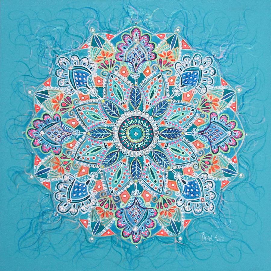 Mandala Painting - Joy Island by Angel Fritz