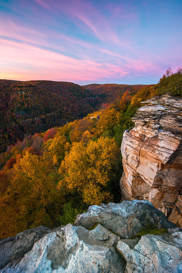 Lindy Point Overlook fall sunset by Rick Dunnuck