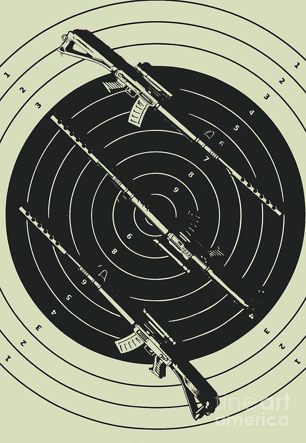 Rifle Photograph - Line Art Rifle Range by Jorgo Photography - Wall Art Gallery