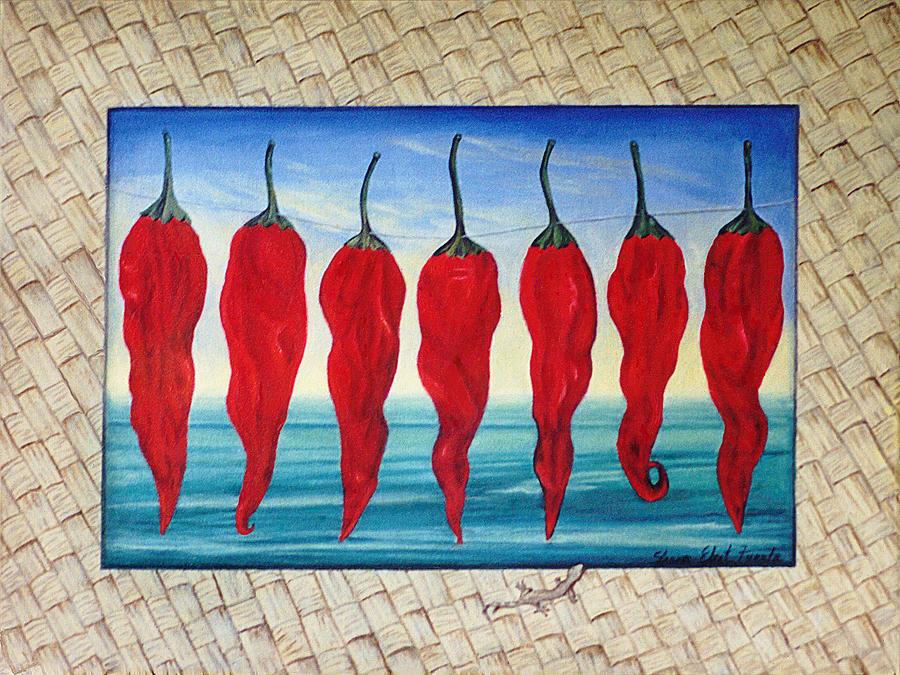 Mat Painting - Line Of Fire by Sharon Ebert