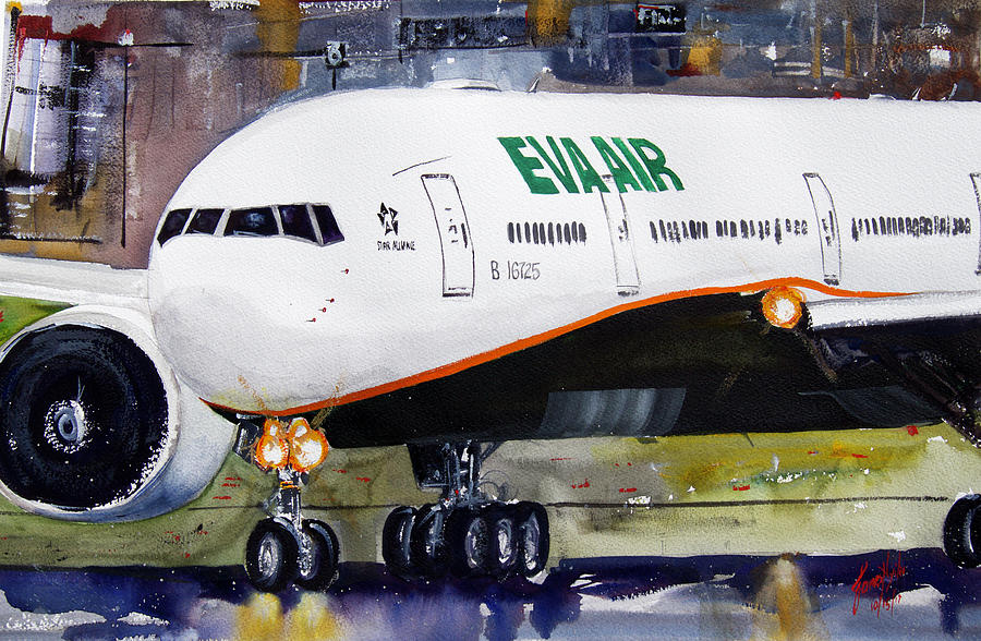 Aircraft Painting - Line Up and Wait by James Nyika