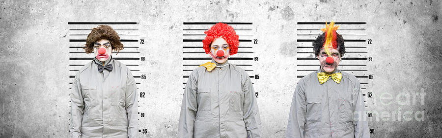 Clowns Photograph - Line Up Of The Usual Suspects by Jorgo Photography - Wall Art Gallery