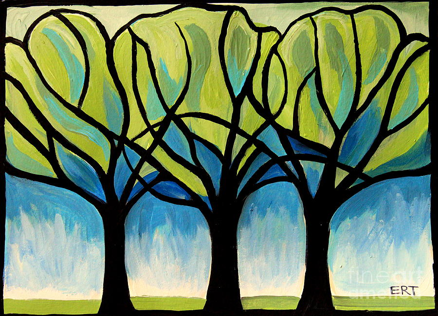Tree Painting - Lineage  by Elizabeth Robinette Tyndall