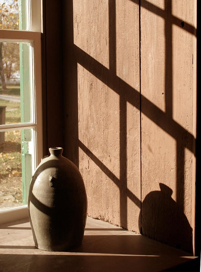 Shakertown Photograph - Linear Shadows by Angie Bechanan