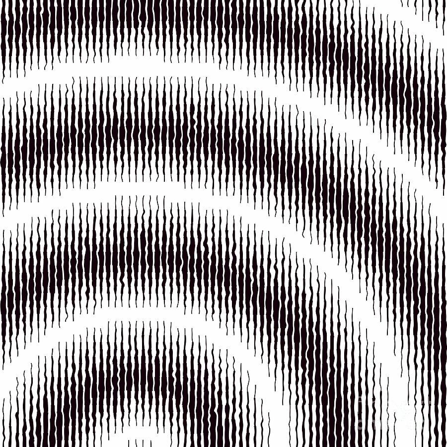 Spiral Digital Art - Linear Spiral by Jennifer Van Niekerk