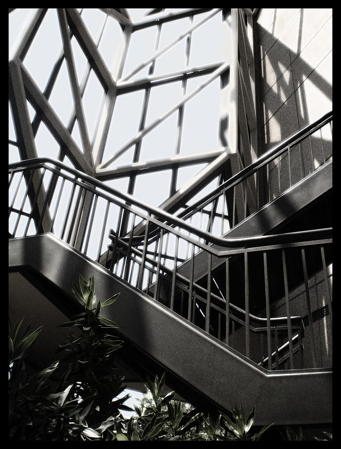 Abstract Photograph - Lined Stairway - 200340 by TNT Images