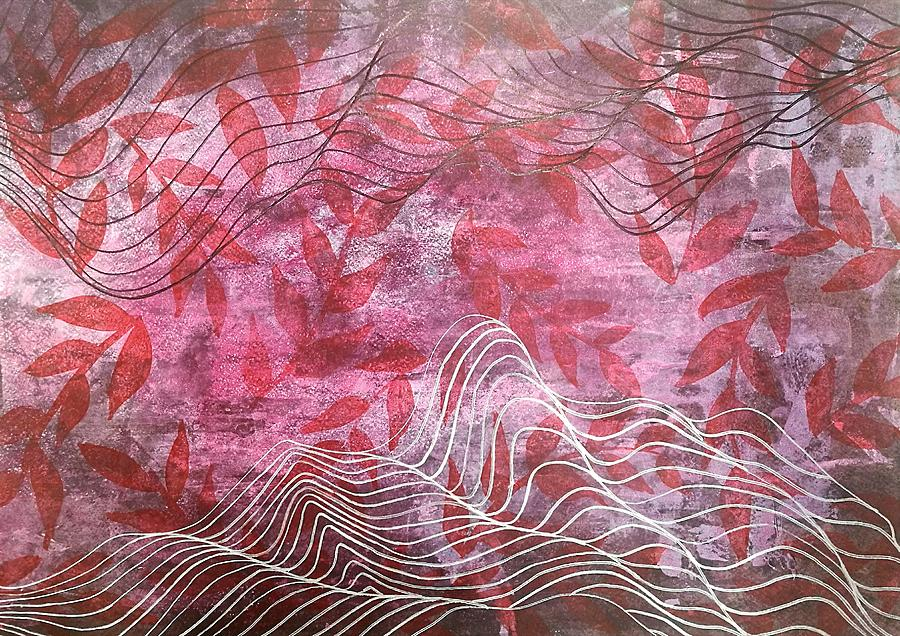 Abstract Mixed Media - Lines 2 by Adam Laughlin