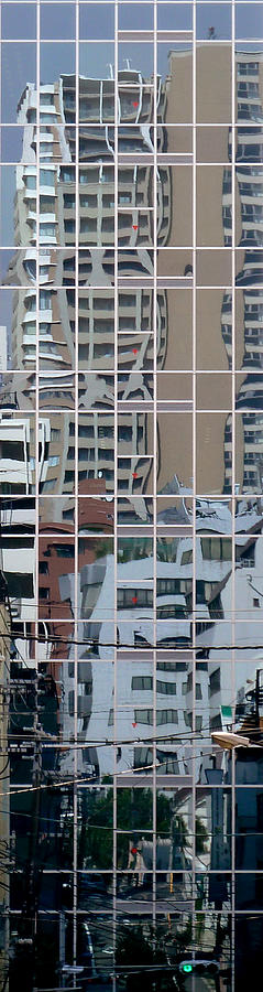 Reflections Photograph - Lines And Bendy Windows by Baato