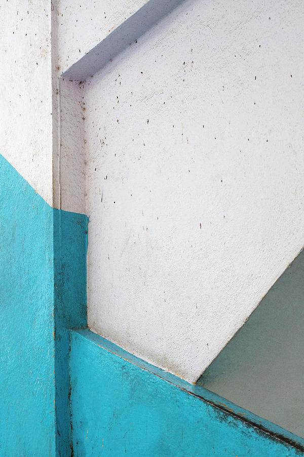 Lines and Blue Paint by Prakash Ghai