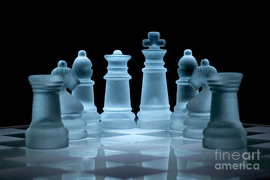 Chess Photograph - Lines Of Defence by Ann Garrett