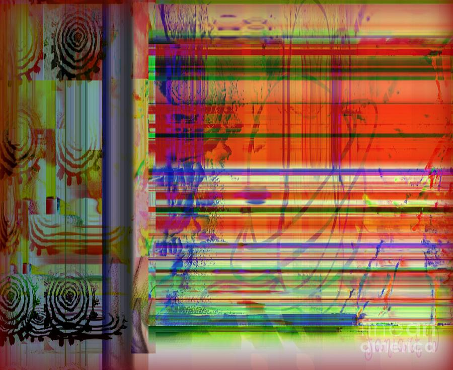Lines Of Illusion Mixed Media by Fania Simon