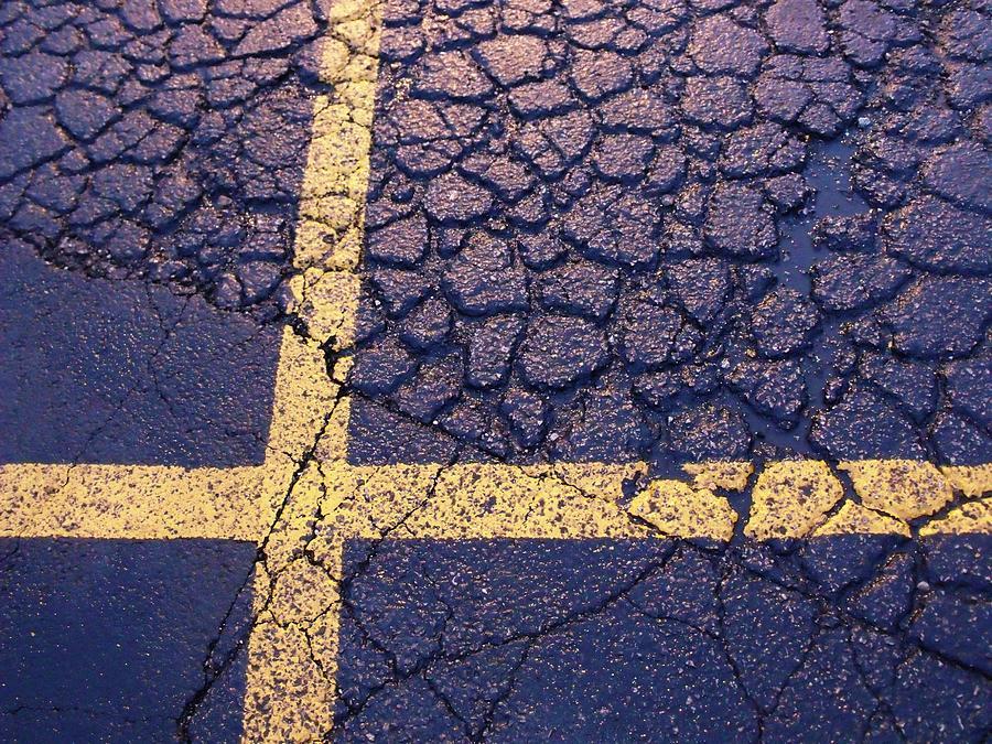 Asphalt Photograph - Lines On Asphalt I by Anna Villarreal Garbis