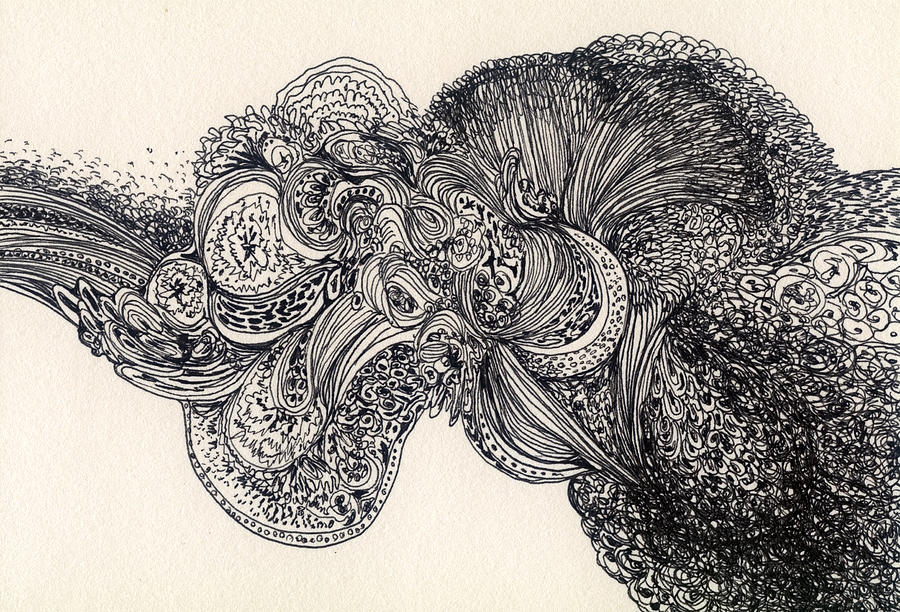 Line Drawing - Lines - #ss13dw007 by Satomi Sugimoto