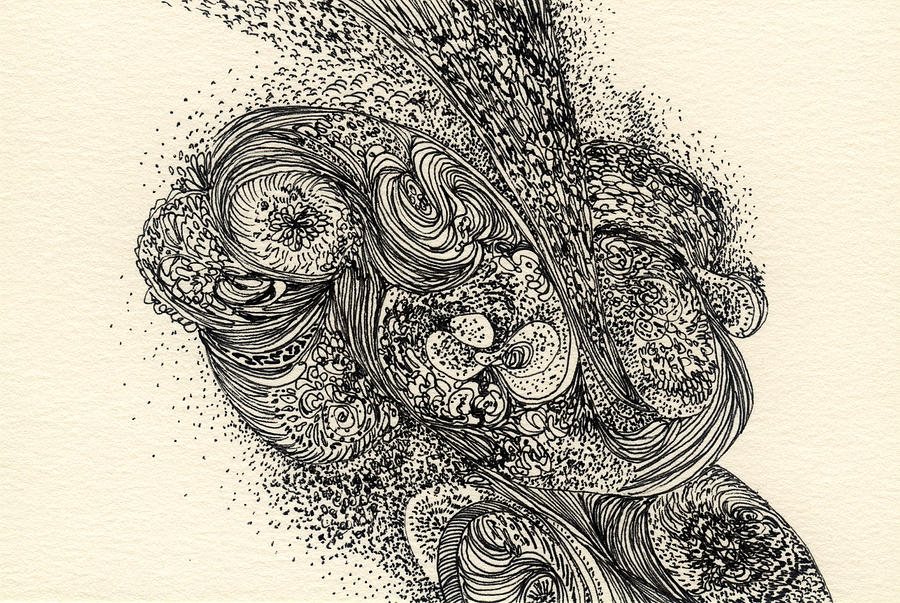 Organic Drawing - Lines - #ss13dw013 by Satomi Sugimoto