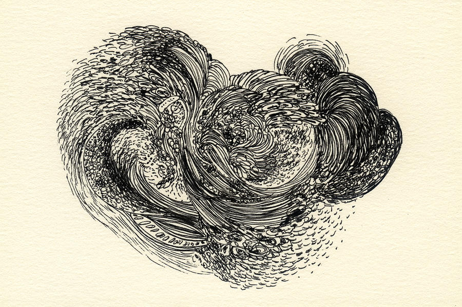 Organic Drawing - Lines - #ss13dw024 by Satomi Sugimoto