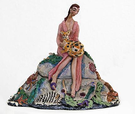 Ceramic Sculpture Sculpture - Lingering Hopefully by Maria Alquilar