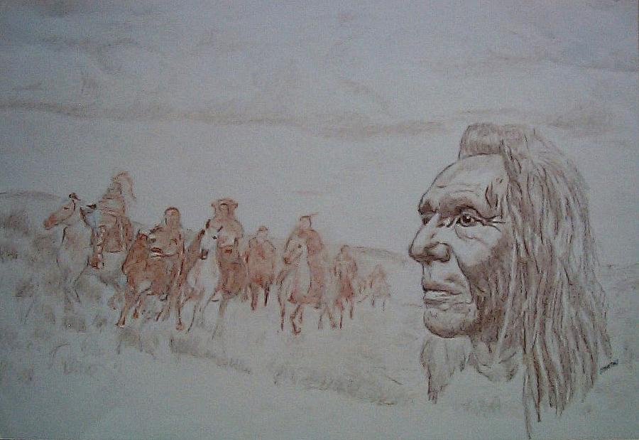 History Drawing - Lingering by Martin Lagewaard