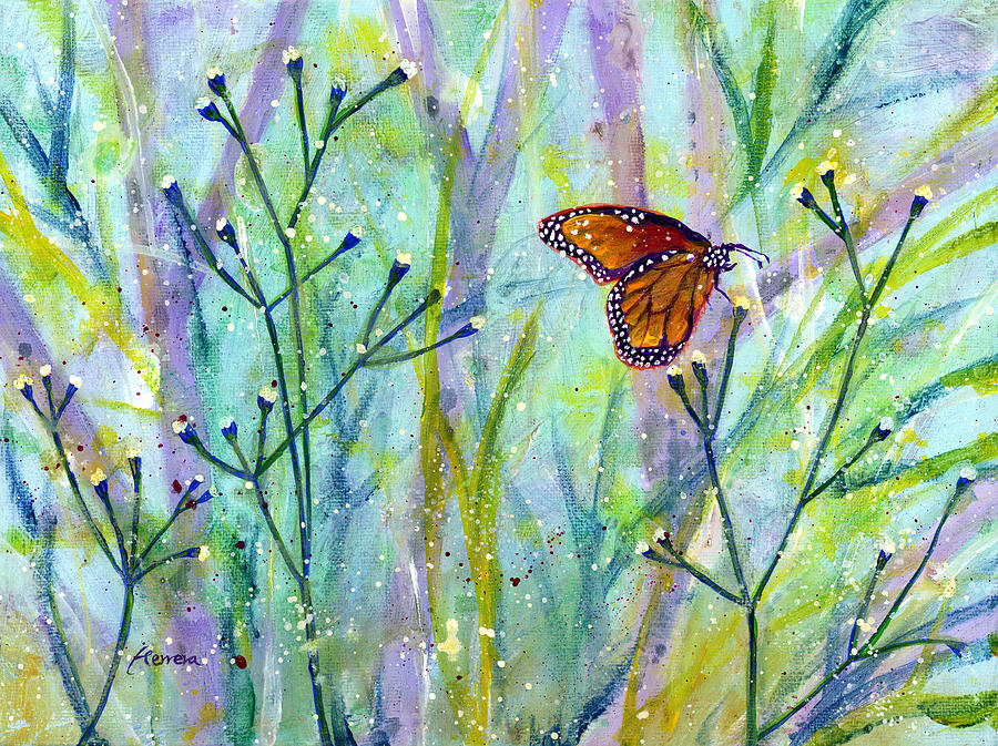 Butterfly Painting - Lingering Memory 1 by Hailey E Herrera