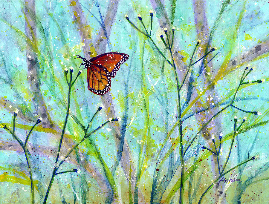 Butterfly Painting - Lingering Memory 2 by Hailey E Herrera
