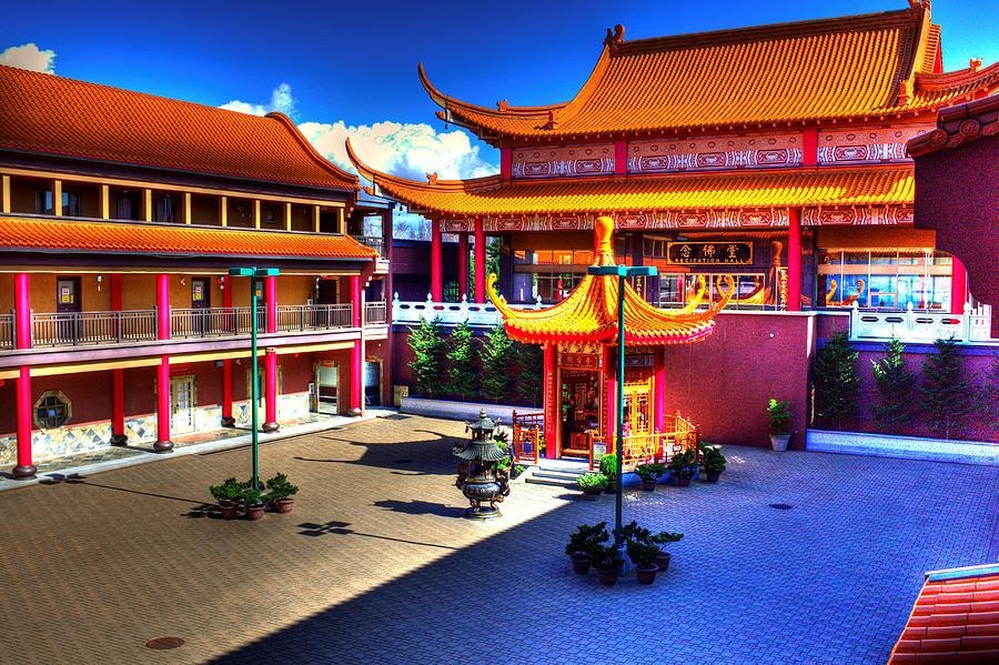 Temple Photograph - Lingyen Mountain Temple 8 by Lawrence Christopher