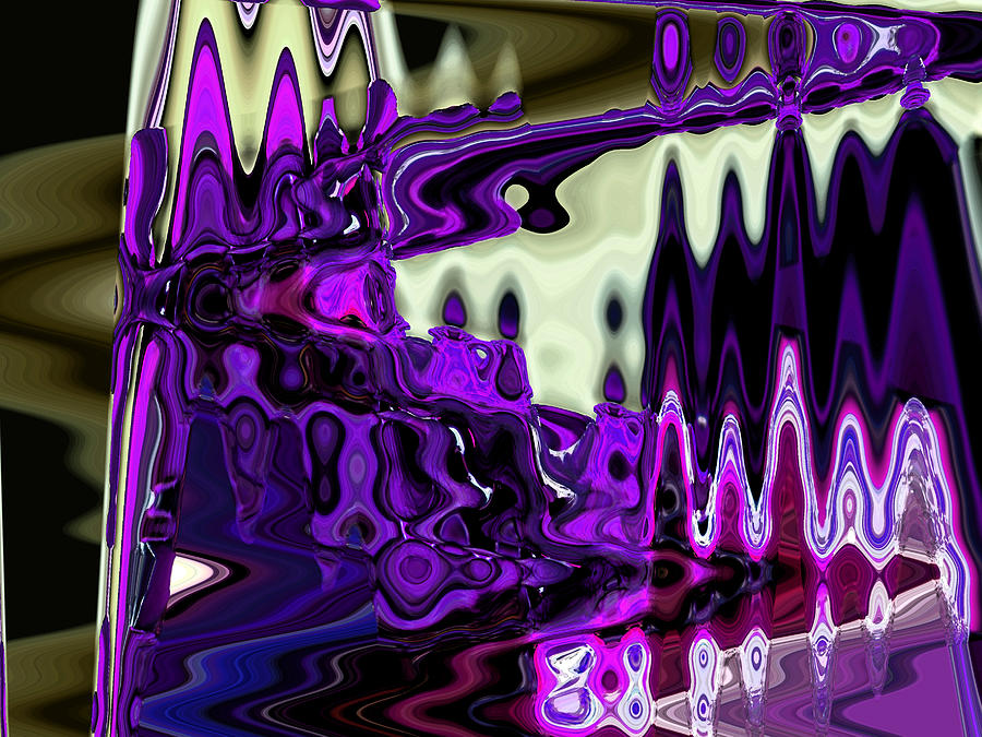 Abstract Digital Art - Lining Up At Heavens Gate by Lenore Senior