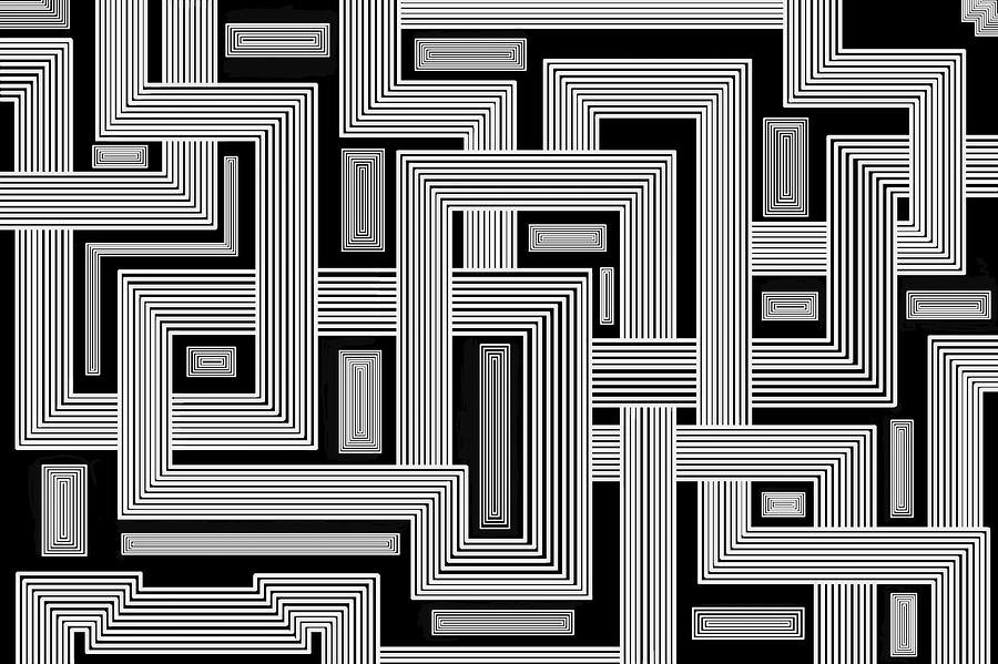 Squares Digital Art - Links Too by Christopher Rowlands