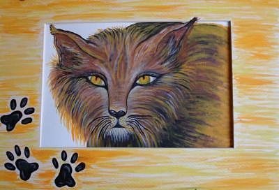 Linx Cat Painting by Carol Plattner