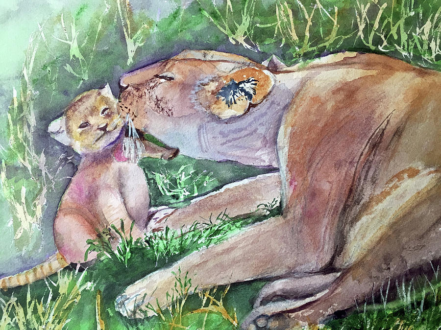 Lion and Cub by Lynne Atwood