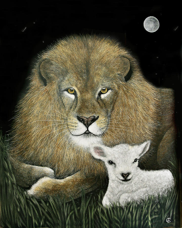 Lion and the Lamb by Angie Cockle