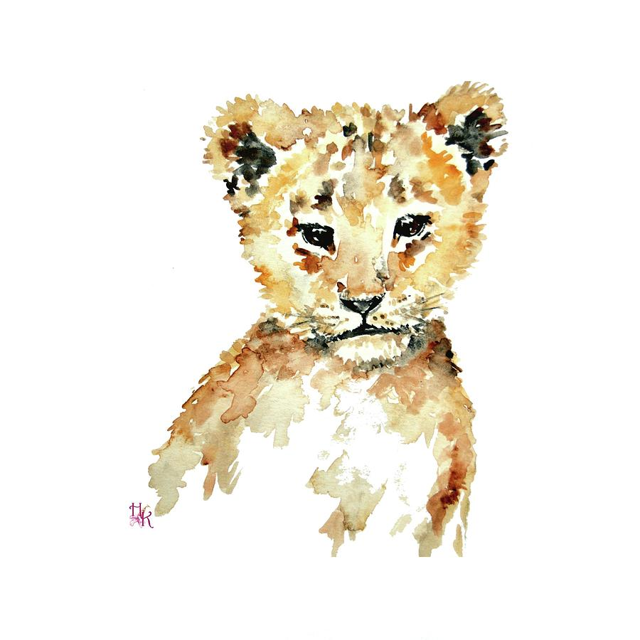Lion Cub Nursery Wall Art Painting by Heidi Kriel