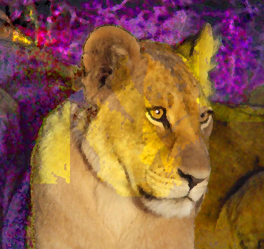 Lion Digital Art - Lion  by Danielle Stephenson