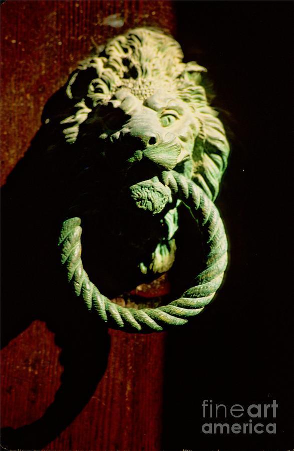 Venice Photograph - Lion Door Knocker in Venice by Michael Henderson