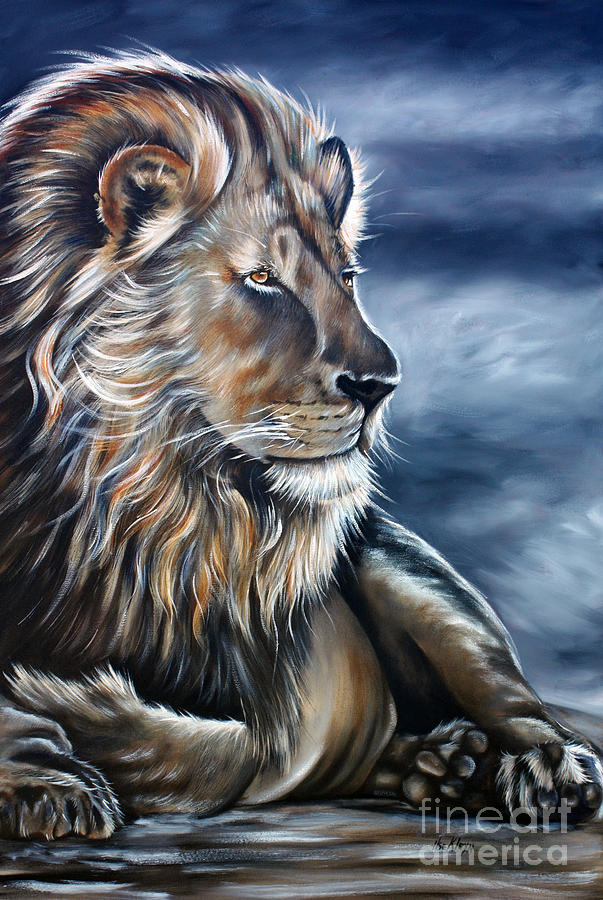 Lion Painting - Lion by Ilse Kleyn