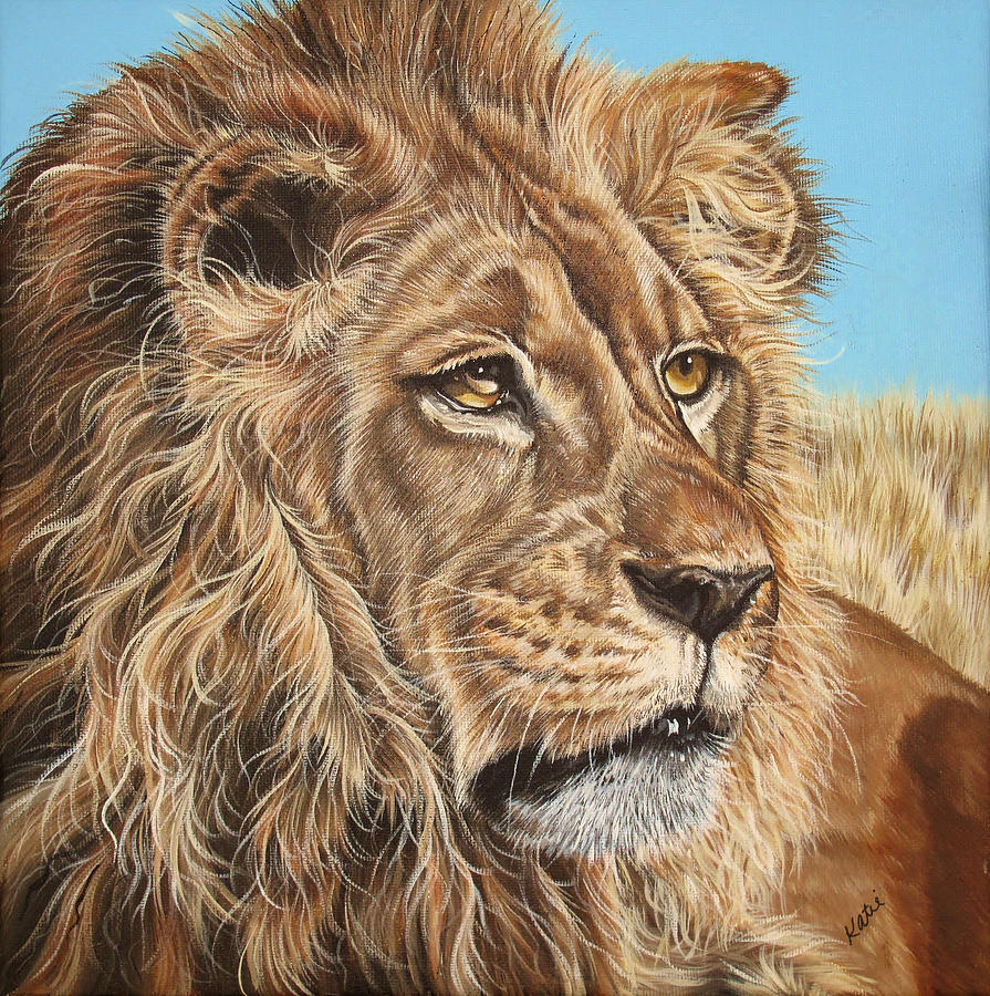 Wildlife Painting - Lion King by Katie McConnachie