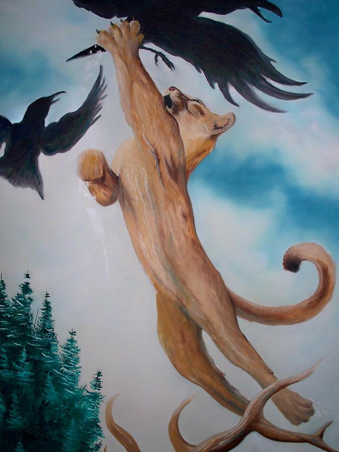 Lion Painting - Lion King by Patrick Trotter
