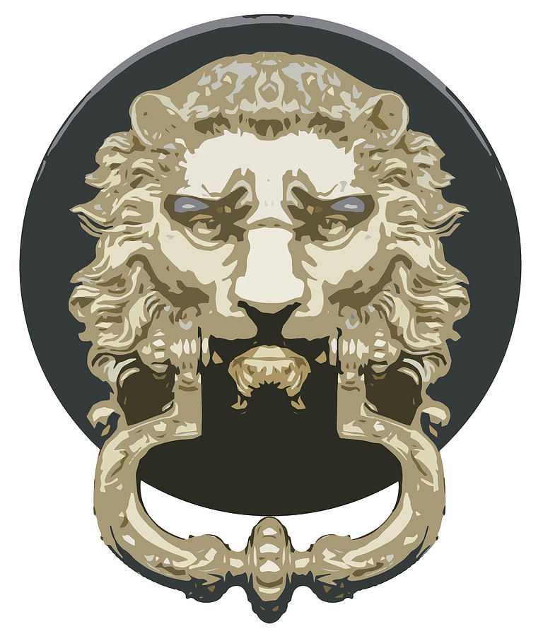 Lion Knocker Drawing
