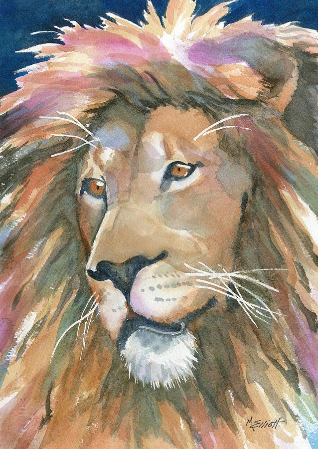 Lion Painting - Lion Of Judah by Marsha Elliott