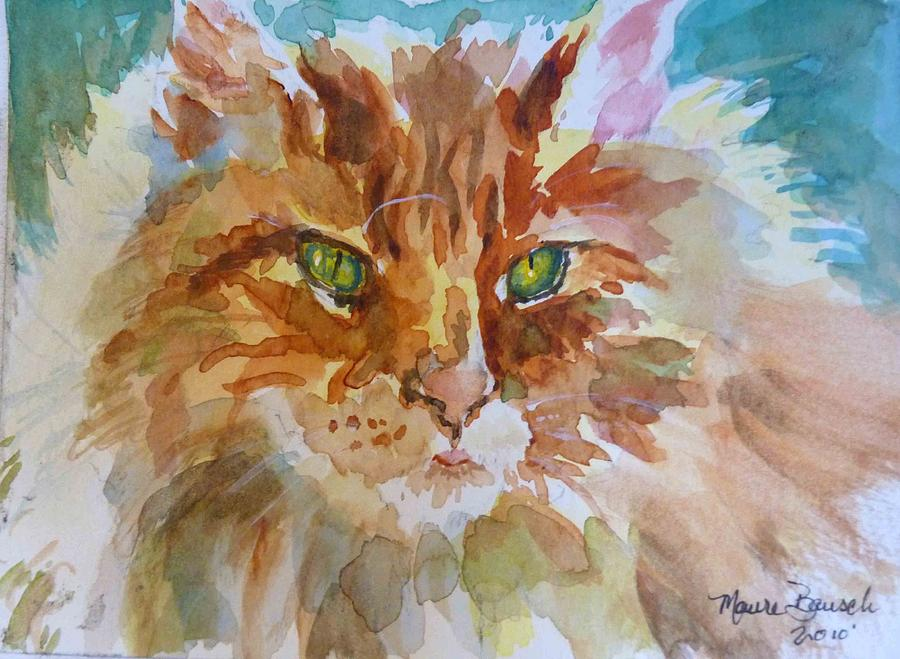 Cat Painting - Lion Of The Garden by P Maure Bausch
