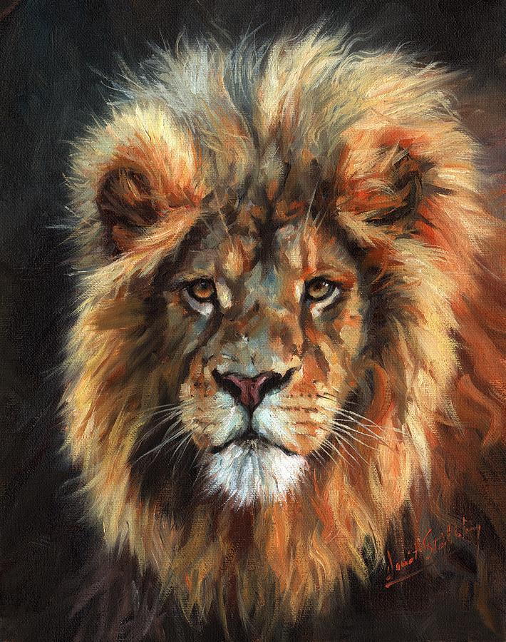 Lion Portrait 111 by David Stribbling