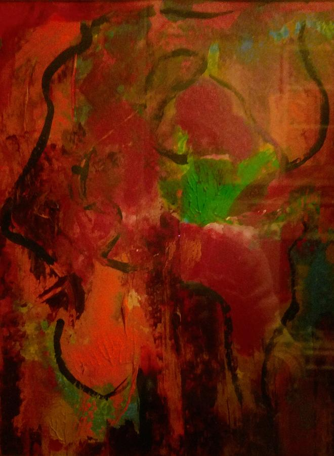 Abstract Painting - Lion Proile by Edward Longo