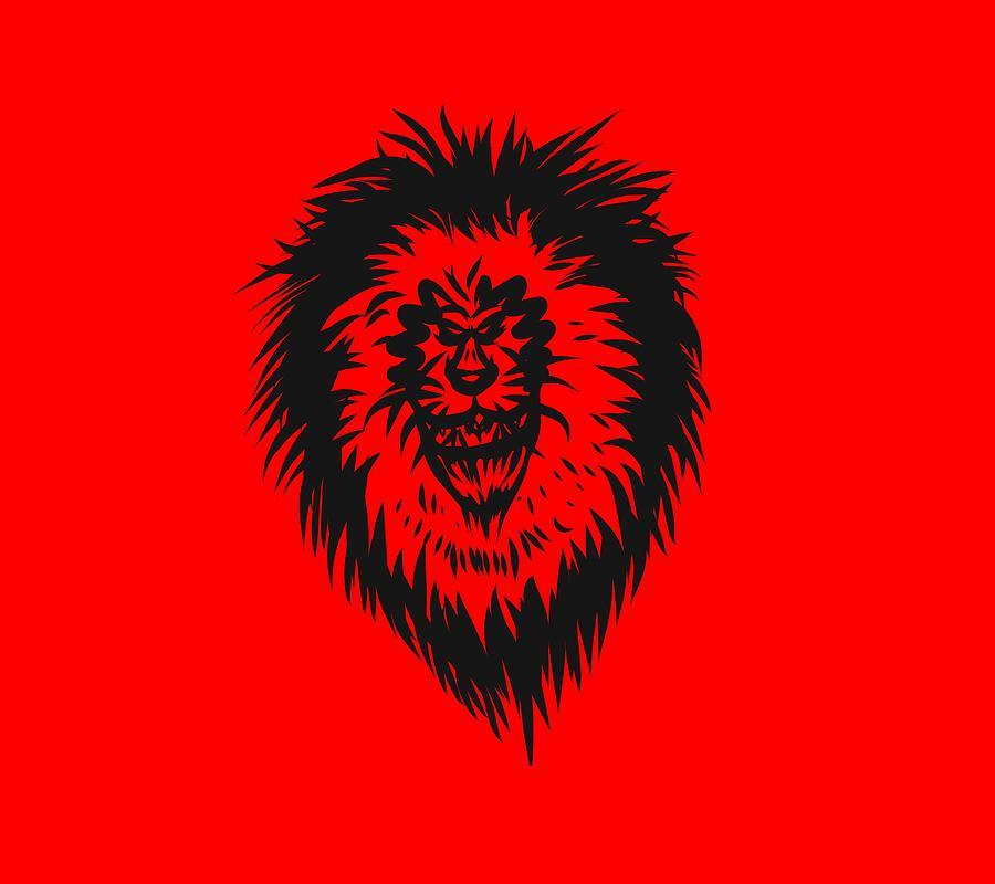 Lion Drawing - Lion Roar by Robert Watson