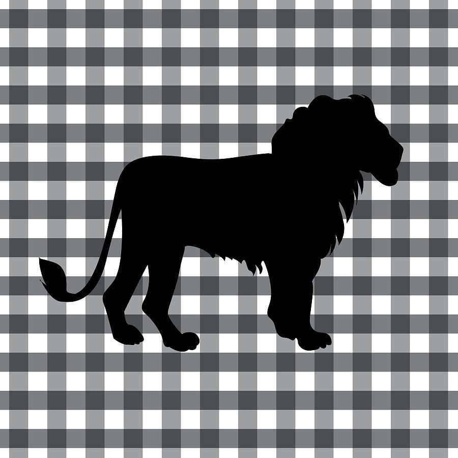 Lion Silhouette Digital Art