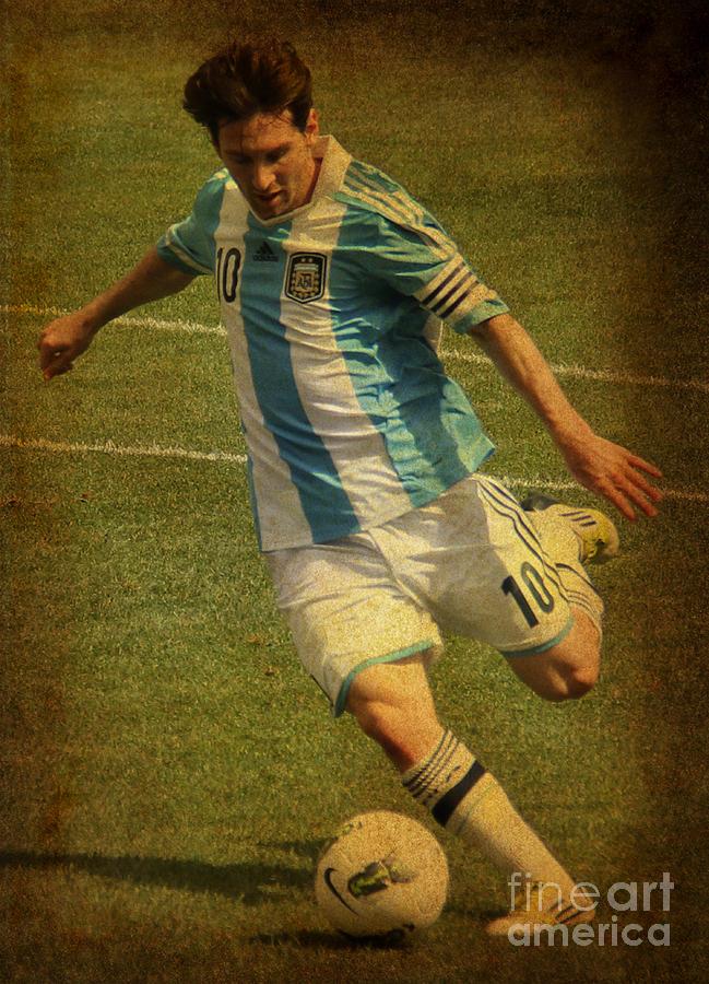 Lee Dos Santos Photograph - Lionel Andres Messi Argentine Footballer Fc Barcelona  by Lee Dos Santos
